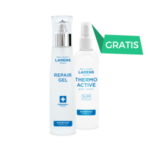 Wellu Larens Repair Gel 100 ml + Thermo Active Body Spray 100ml GRATIS RGTACH2