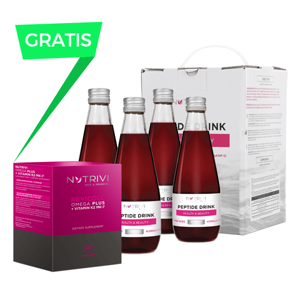 Peptide Drink Health & Beauty + Revicoll Omega Plus K2MK7