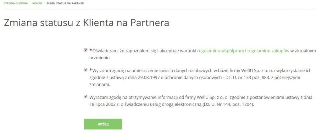 vitalmania.wellU.eu rejestracja użytkownika partnera vitalmania